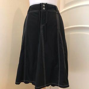 Athleta black gored skirt with undershorts